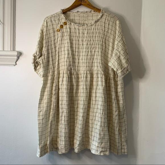 UO windowpane babydoll dress